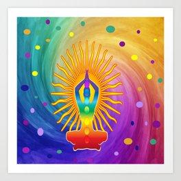 COLORFUL Om Meditation Mantra Chanting DESIGN Art Print