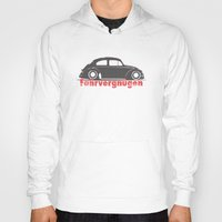 vw Hoodies featuring VW Bug by JudeR73