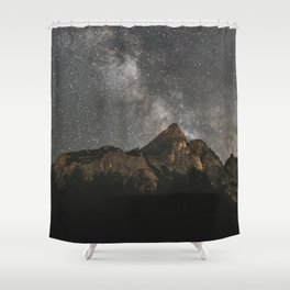 Milky Way Over Mountains - Landscape Photography Shower Curtain