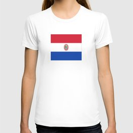 flag of paraguay -paraguyan,asuncion,spanish, south america, latin america,pan flute,coffee,forest T-shirt