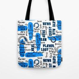 Gamer Lingo-White and Blue Tote Bag