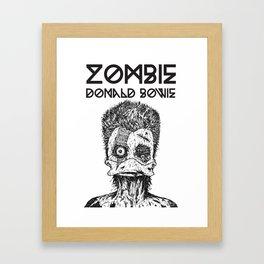 Zombie Donald Bowie Framed Art Print