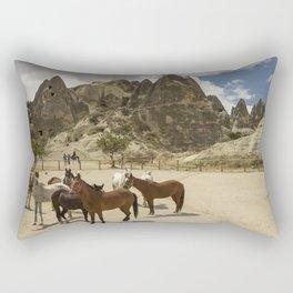 Horses in Cappadocia  Rectangular Pillow