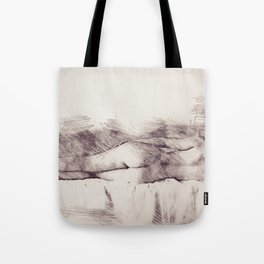 Lying on the bed. Nude studio Tote Bag