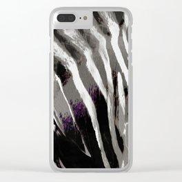 Zebra black and white Clear iPhone Case