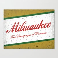 milwaukee Canvas Prints featuring Milwaukee, Wisconsin by Project Wisconsin