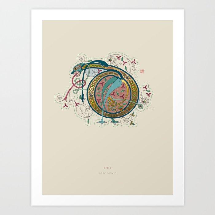 Celtic Initial D Art Print