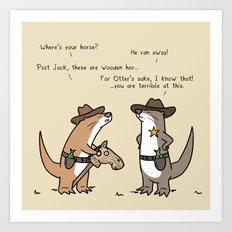 Ottercowboy Art Print