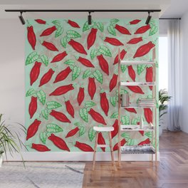 Red Hot Chilli Pepper Decorative Food Art Wall Mural