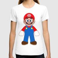 sticker T-shirts featuring Sticker Mario by Rebekhaart
