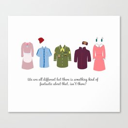 Wes Anderson Outfits Canvas Print