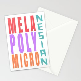 Mela Poly Micro Nesian Stationery Cards