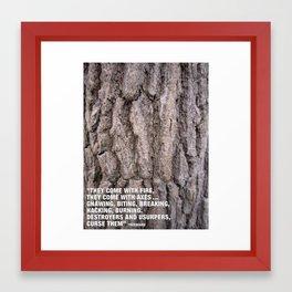 Ent Complaint Framed Art Print