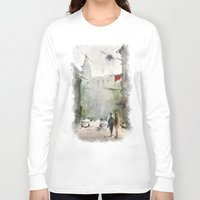 street art Long Sleeve T-shirts featuring Street by Baris erdem
