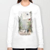 street Long Sleeve T-shirts featuring Street by Baris erdem