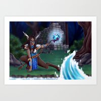 arya Art Prints featuring Guardian of The Forest by Sara Poveda