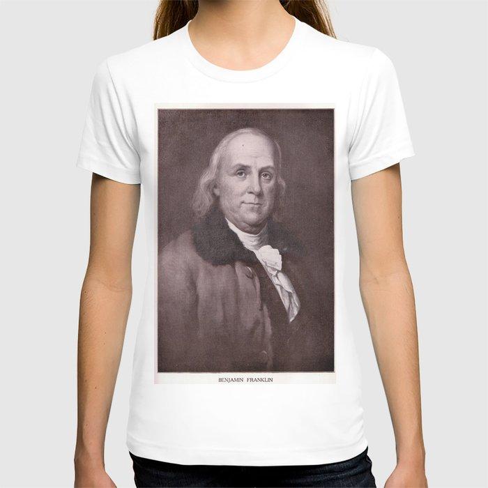 Vintage Benjamin Franklin Portrait T-shirt