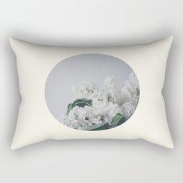 Comforting White Flowers Rectangular Pillow