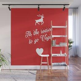 Tis The Season To Go Vegan Wall Mural