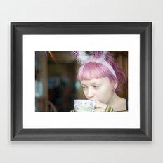 red bunny Framed Art Print