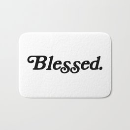 Old School Blessed Bath Mat