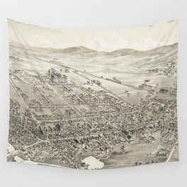 Vintage Pictorial Map of Hackettstown NJ (1883) Wall Tapestry