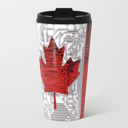 circuit board Canada (Flag) Travel Mug