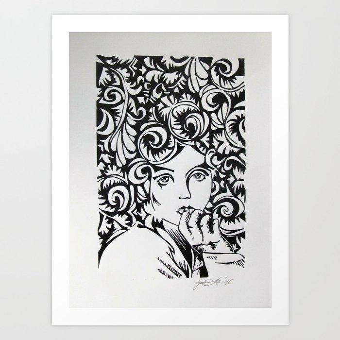 Wallflower Art Print