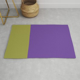 Purple & Lime Color Block Rug