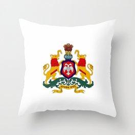 Seal of Karnataka Throw Pillow