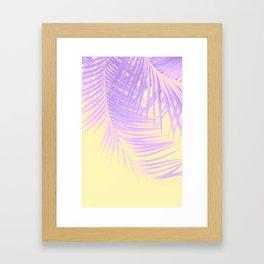 Palm Leaves Summer Vibes #2 #tropical #decor #art #society6 Framed Art Print