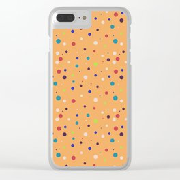 Modern geometrical colorful abstract polka dots Clear iPhone Case