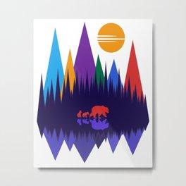 Bear & Cubs #4 Metal Print
