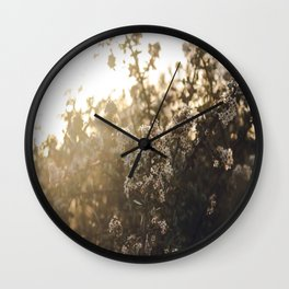 late night conversations with the moon Wall Clock