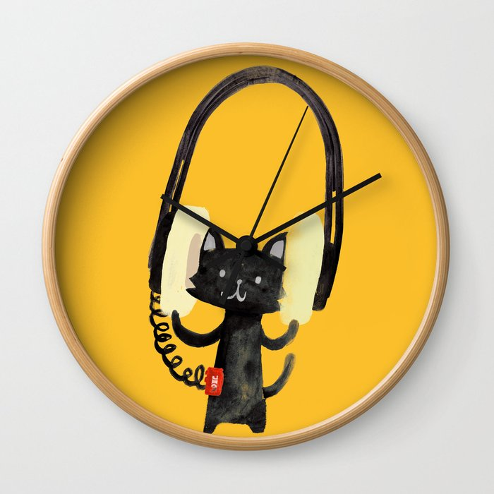 I Love Huge Headphone Wall Clock