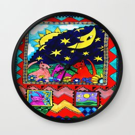Moon Cats Wall Clock
