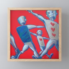 Our hearts march on Framed Mini Art Print