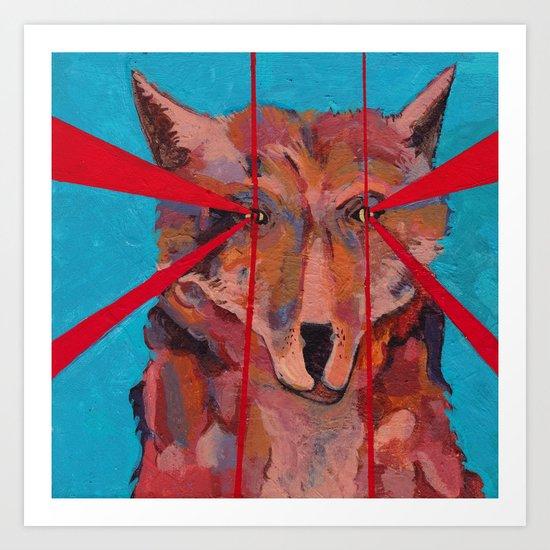 Foxy Eyes Art Print