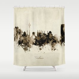 Tehran Iran Skyline Shower Curtain