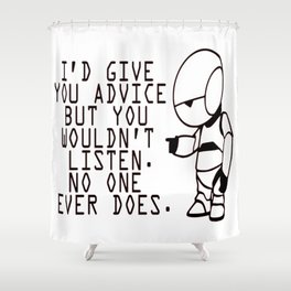 Marvin The Hitchhiker's Guide to the Galaxy Shower Curtain