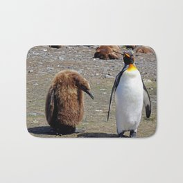 King Penguin and Chick Bath Mat