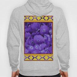 Interior Design Purple Floral Yellow Lattice Hoody