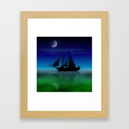 Sailing On A Sea of Green. Framed Art Print