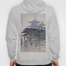 Kawase Hasui Woodblock Print - De Zensetsu tempel in Sanshu Hoody