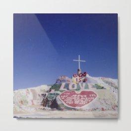 Salvation Mountain Cheki Metal Print