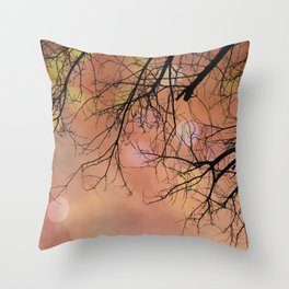 Autumn Tree Photo - Abstract, dreamy photography Throw Pillow