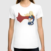 supergirl T-shirts featuring Supergirl v1 by Hallowette