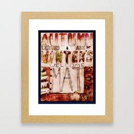 Welcome Winter Framed Art Print