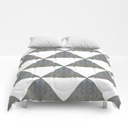 Cement White Triangles Comforters