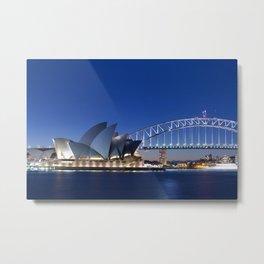 Sydney Opera House By Night Metal Print